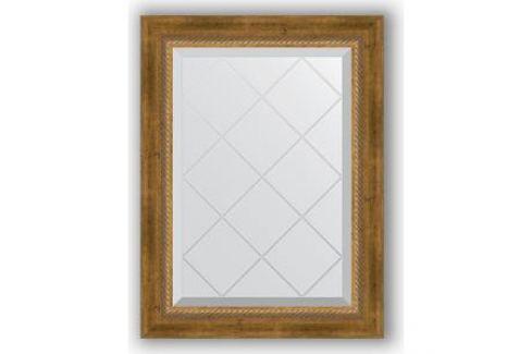 Зеркало с гравировкой поворотное Evoform Exclusive-G 53x71 см, в багетной раме - состаренная бронза с плетением 70 мм (BY 4004) Мебель для ванных комнат