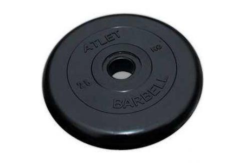 Диск обрезиненный Atlet 26мм 25кг черный Диски