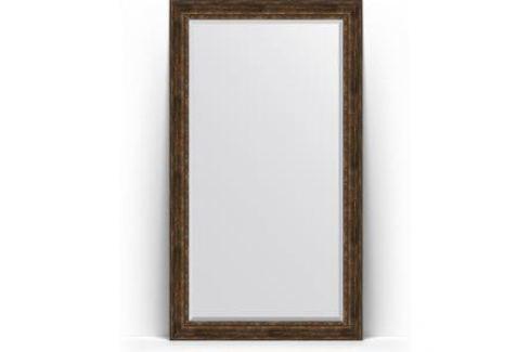Зеркало напольное с фацетом поворотное Evoform Exclusive Floor 117x207 см, в багетной раме - состаренное дерево с орнаментом 120 мм (BY 6180) Мебель для ванных комнат