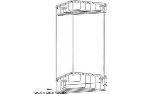 Полочка-решетка угловая 2-х ярусная 18/18 см FBS Ryna хром (RYN 003) Аксессуары для ванной