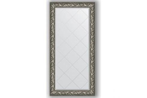 Зеркало с гравировкой поворотное Evoform Exclusive-G 79x161 см, в багетной раме - византия серебро 99 мм (BY 4286) Мебель для ванных комнат
