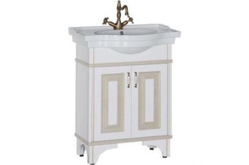 Тумба под раковину Aquanet Валенса 70 белый краколет/золото (182655) Мебель для ванных комнат