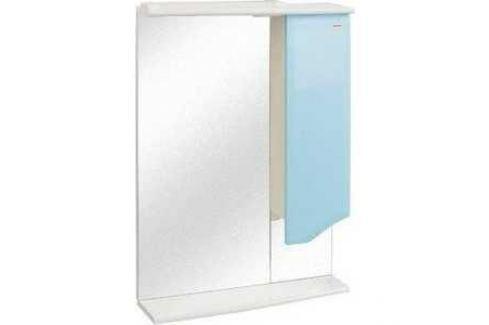 Зеркальный шкаф Меркана roman 60 см шкаф справа свет голубое (14472) Мебель для ванных комнат