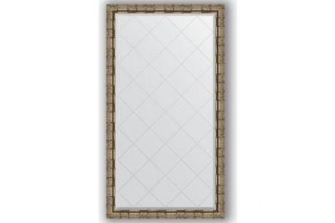 Зеркало с гравировкой поворотное Evoform Exclusive-G 93x168 см, в багетной раме - серебряный бамбук 73 мм (BY 4394) Мебель для ванных комнат