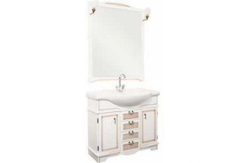 Комплект мебели Aquanet Луис 90 (008) цвет белый раковина-стол (Shenxin) Мебель для ванных комнат