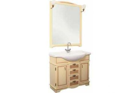 Комплект мебели Aquanet Луис 90 (008) цвет бежевый раковина-стол (Shenxin) Мебель для ванных комнат