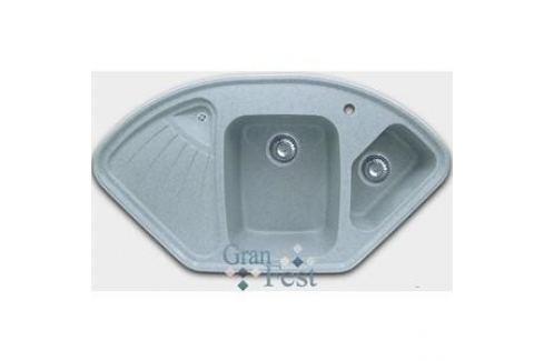 Мойка кухонная GranFest гранит угловая 1040x570 (Gf-C1040E серая) Кухонные мойки