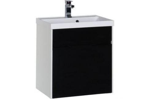 Тумба под раковину Aquanet Латина 60 черный (1 ящик) (179935) Мебель для ванных комнат