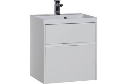 Тумба под раковину Aquanet Латина 60 белый (2 ящика) (179934) Мебель для ванных комнат