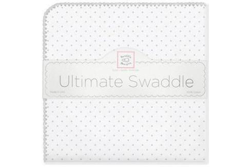 Фланелевая пеленка SwaddleDesigns для новорожденного Sterling Dot (SD-001ST) Пеленки