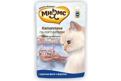 Паучи Мнямс Катаплана по-португальски с куриным филе и форелью для кошек 85г Электроника и оборудование