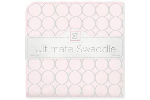 Фланелевая пеленка SwaddleDesigns для новорожденного Пастель круги розовая (SD-350SP) Пеленки