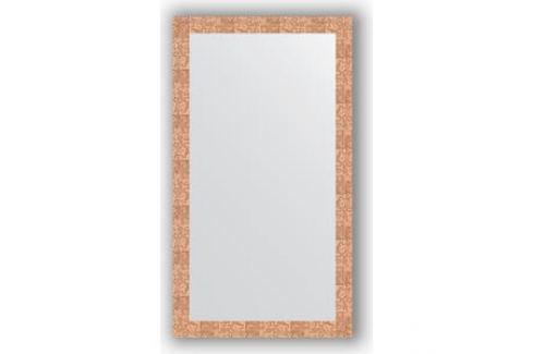 Зеркало в багетной раме поворотное Evoform Definite 76x136 см, соты медь 70 мм (BY 3306) Мебель для ванных комнат