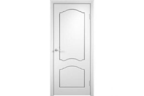 Дверь VERDA Лидия глухая 1900х600 ПВХ Белый Межкомнатные двери