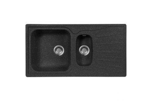 Мойка кухонная AquaGranitEx M-09K 940х495 черный (M-09K 308) Кухонные мойки