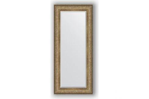 Зеркало с фацетом в багетной раме поворотное Evoform Exclusive 65x150 см, виньетка античная бронза 109 мм (BY 3555) Мебель для ванных комнат