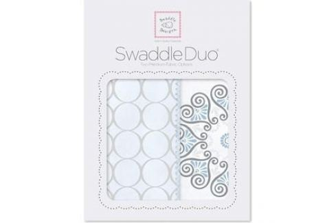 Набор пеленок SwaddleDesigns Swaddle Duo Blue Mod Medallion (SD-358B) Пеленки