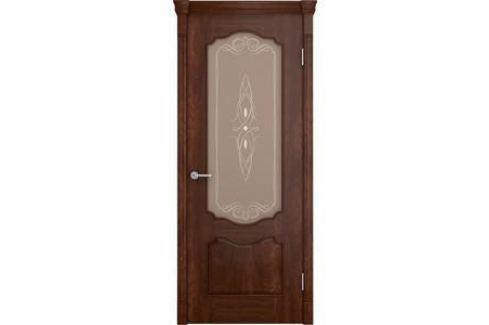 Дверь VERDA Престиж остекленная 2000х800 шпон Кофе Межкомнатные двери