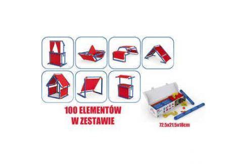 Игровой констуктор домик Keter Megado сине-красный 17200123 Игровые домики
