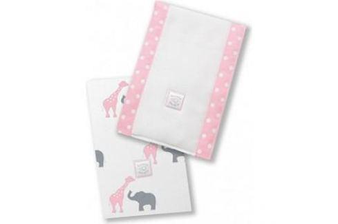 Полотенчики SwaddleDesigns Baby Burpie Set Pink Elephant & Giraffe (SD-457P) Аксессуары для кормления