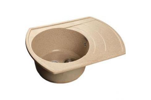 Мойка кухонная GranFest гранит 650x500 чаша крыло (Gf-R650L песок) Кухонные мойки