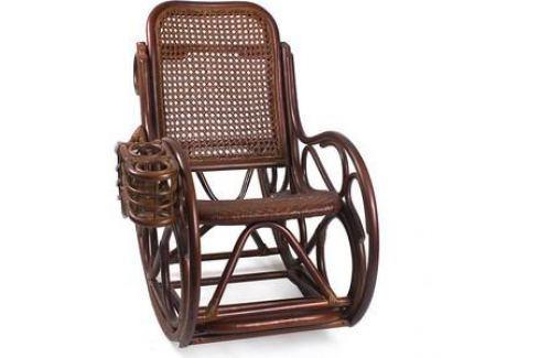 Кресло-качалка Мебель Импэкс Novo Lux Corall коньяк Кресла-качалки плетёные