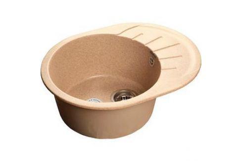 Мойка кухонная GranFest гранит 580x450 (Gf-R580L песок) Кухонные мойки