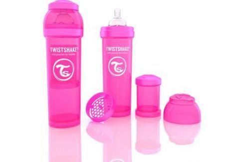 Twistshake Антиколиковая бутылочка для кормления 330 мл. Розовая (780013) Бутылочки и поильники