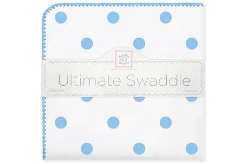 Пеленка фланель для новорожденного SwaddleDesigns Ultimate Big Dots Blue Пеленки
