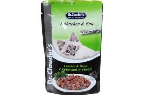 Паучи Dr.Clauder's Chicken & Duck in Sauce с курицей и уткой кусочки в соусе для кошек 100г Электроника и оборудование