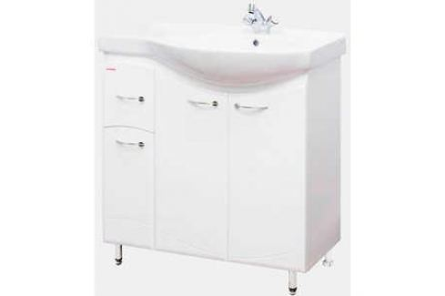 Комплект мебели Меркана Коралл 82 Л белый Мебель для ванных комнат
