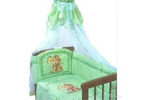 Бортик в кроватку Золотой гусь Аленка зеленый 4014 Бортики, балдахины