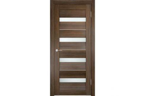 Дверь CASAPORTE Сицилия-12 остекленная 1900х600 экошпон Венге мелинга Межкомнатные двери