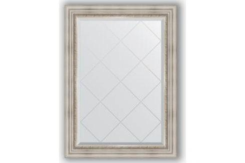 Зеркало с гравировкой поворотное Evoform Exclusive-G 76x104 см, в багетной раме - римское серебро 88 мм (BY 4190) Мебель для ванных комнат