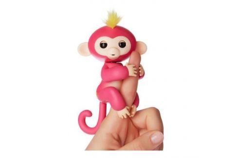 FINGERLINGS Интерактивная обезьянка БЕЛЛА (розовая), 12 см, FINGERLINGS ОТ 3 ЛЕТ