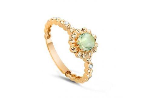 Кольцо с аметистами и бриллиантами из желтого золота VALTERA 53870 Изделия из золота