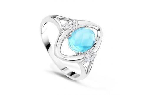 Кольцо с бриллиантами и топазами из белого золота VALTERA 62585 Изделия из золота