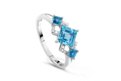 Кольцо с бриллиантами и топазами из белого золота VALTERA 48250 Изделия из золота