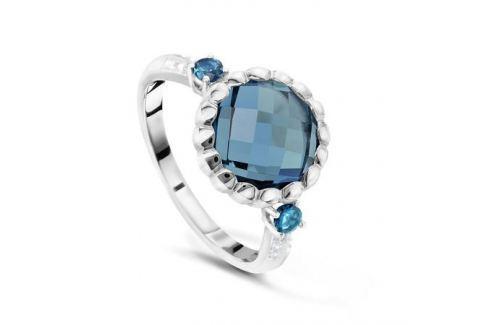 Кольцо с бриллиантами и топазами из белого золота VALTERA 48050 Изделия из золота