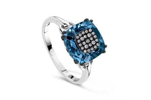 Кольцо с бриллиантами и топазами из белого золота VALTERA 64095 Изделия из золота