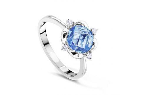 Кольцо с бриллиантами и топазами из белого золота VALTERA 62593 Изделия из золота