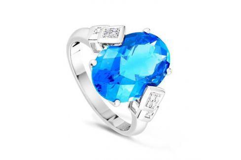 Кольцо с бриллиантами и топазами из белого золота VALTERA 55712 Изделия из золота