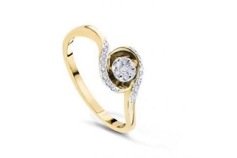 Кольцо с бриллиантами из желтого золота VALTERA 54079 Изделия из золота