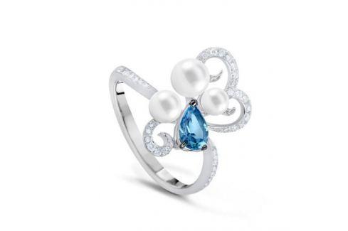 Кольцо с полудрагоценными камнями из белого золота VALTERA 54286 Изделия из золота