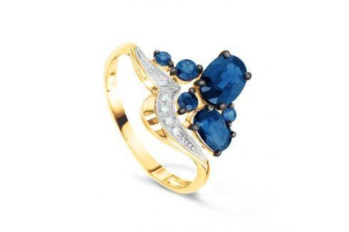 Кольцо с сапфирами и бриллиантами из розового золота VALTERA 52107 Изделия из золота