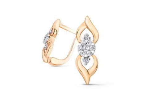 Серьги с бриллиантами из розового золота VALTERA 52568 Изделия из золота