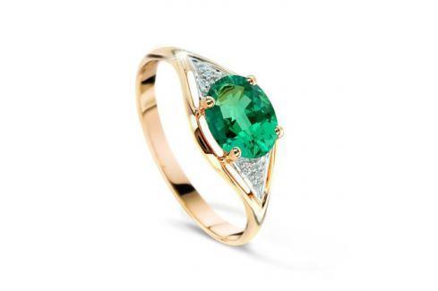 Кольцо с изумрудами и бриллиантами из розового золота VALTERA 48474 Изделия из золота