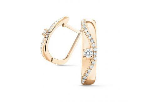 Серьги с бриллиантами из розового золота VALTERA 74725 Изделия из золота