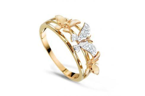 Кольцо с бриллиантами из желтого золота VALTERA 70188 Изделия из золота