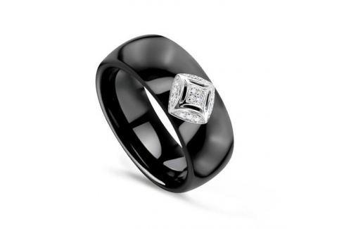 Кольцо с керамикой и бриллиантами из белого золота VALTERA 75830 Изделия из золота